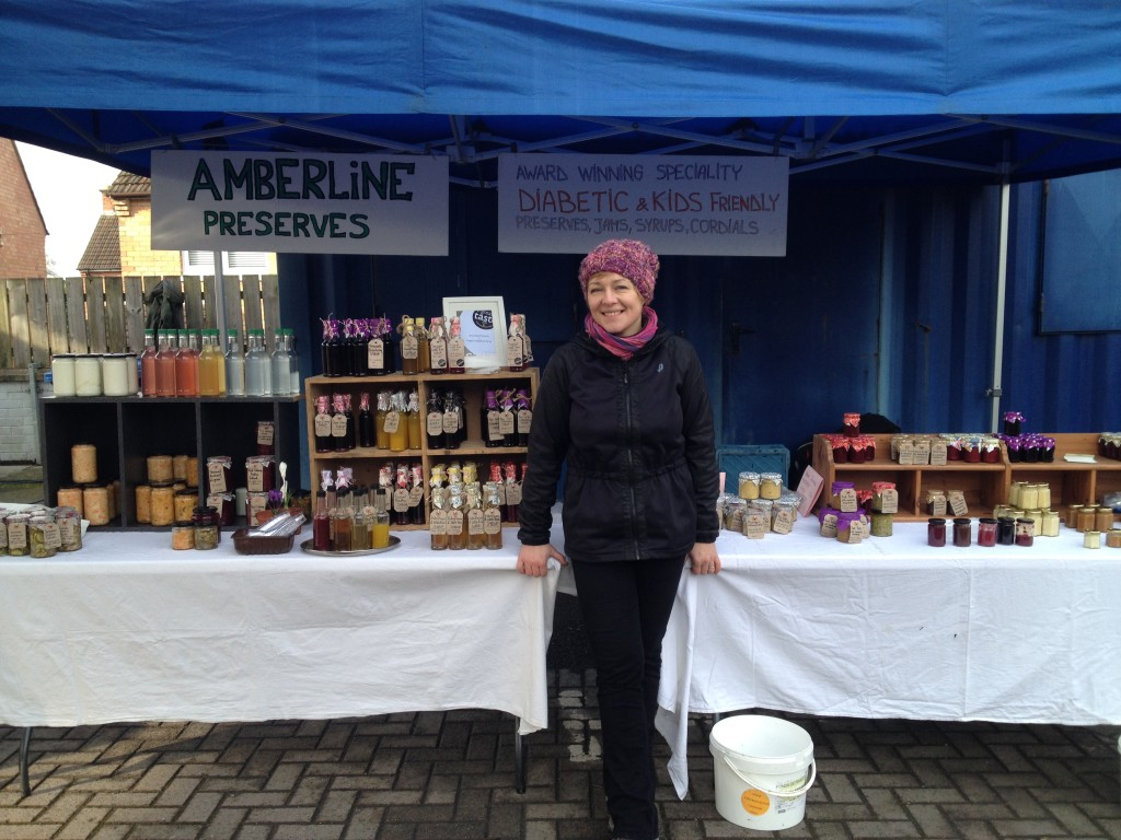 Alicia Breslan at her Amberline stall
