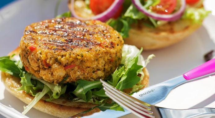 Chickpea-veggie-burger