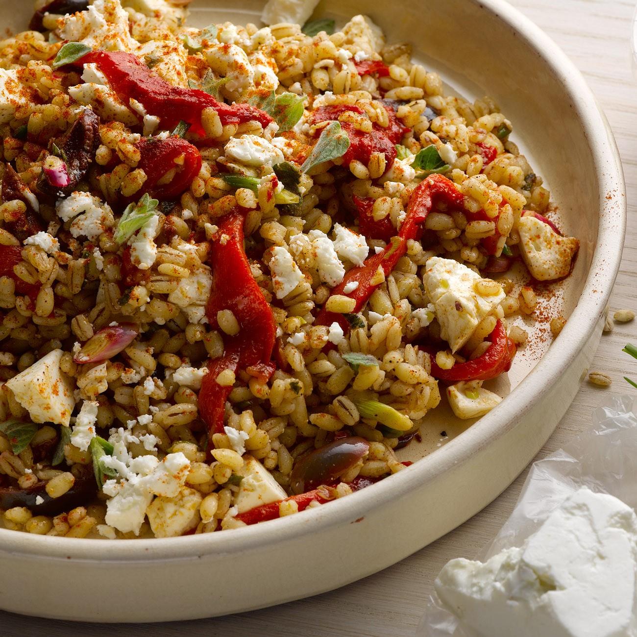 Spelt-grain-pepper-salad
