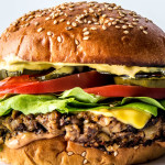 This is a veggie burger. The ultimate veggie burger.