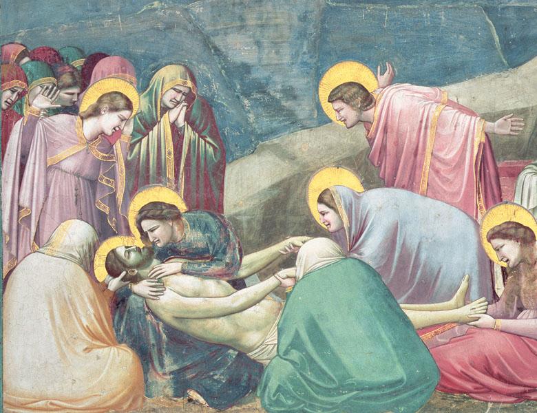 Lamentation over the Dead Christ, c.1305 Giotto di Bondone
